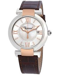 Chopard Imperiale Mother Of Pearl Dial Leather Ladies Watch -6001-br - Metallic