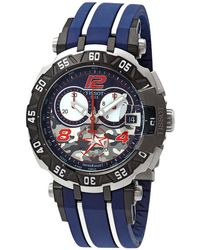 Tissot Blue Dial Chronograph Quartz Mens Watch