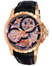 Adee Kaye Ak5664 Black Dial Watch -0rgbk - Multicolour