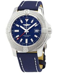 Breitling Avenger Gmt 45 Automatic Blue Dial Mens Watch