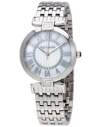 Guy Laroche Far East White Mother Of Pearl Dial Ladies Stainless Steel Watch -03 - Metallic