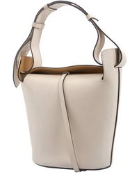 Burberry The Small Leather Bucket Bag - Green