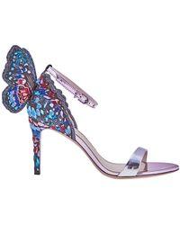 Sophia Webster Ladies Sandal Chiara Silver, Blue 85 Sandal Emb Butf Back, Brand