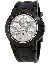 Harry Winston Ocean Triple Retrograde Chronograph Automatic Silver Dial Mens Watch - Metallic
