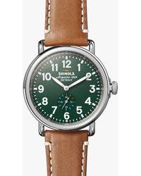 Shinola The Runwell Quartz Green Dial Watch
