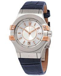 Maserati Potenza Diamond Silver Dial Ladies Watch - Metallic