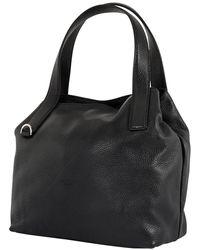 Coccinelle Ladies Mila Grain Leather Handbag - Black