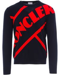 Moncler Mens Logo-embroidered Cotton Sweater
