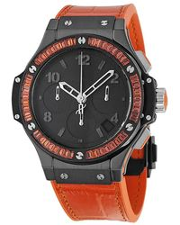 Hublot - Big Bang Black Dial Chronograph Unisex Watch 3 - Lyst