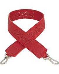 Loewe Red Ladies Perforated Strap