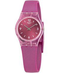 Swatch - Fairy Cherry Quartz Pink Dial Ladies Watch - Lyst