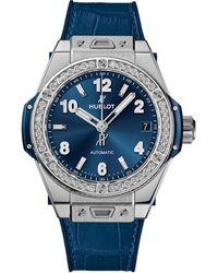 Hublot Big Bang Automatic Diamond Blue Dial Unisex Watch