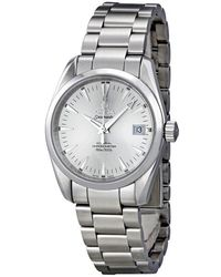 Omega Pre-owned Seamaster Aqua Terra Automatic Chronometer Silver Dial Unisex Watch - Metallic