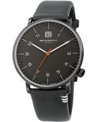Bruno Magli Men's Roma Moderna Leather Strap Watch, 43mm - Gray