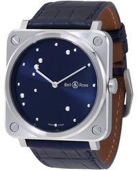 Bell & Ross Aviation Midnight Blue Diamond Dial Ladies Watch -diaeagle