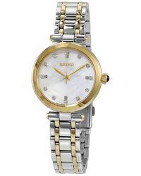 Seiko Quartz Diamond Watch - Metallic