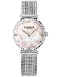 Stuhrling Original - Symphony Silver-tone Dial Ladies Watch - Lyst