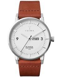 Triwa Klinga Quartz Ivory White Dial Unisex Watch - Multicolor
