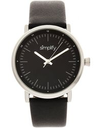 Simplify - The 6200 Black Dial Watch - Lyst