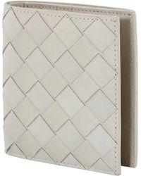 Bottega Veneta Intrecciato White Bi-fold Wallet