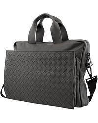 Bottega Veneta Intrecciato Ultra-light Leather Briefcase - Black