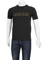 Calvin Klein Mens Black Utility Strong Logo Tee, Brand