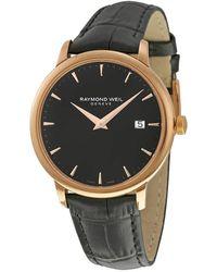 Raymond Weil Toccata Black Dial Black Leather Mens Watch -pc5-20001 - Metallic