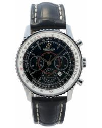 Breitling - Pre-owned Montbrillant Chronograph Automatic Black Dial Mens Watch - Lyst