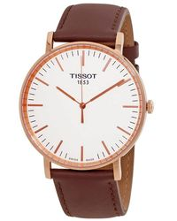 Tissot - Everytime Silver Dial Mens Watch - Lyst