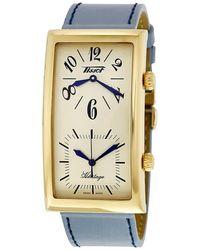 Tissot Heritage Beige Dual Time Dial Unisex Watch T56563339 - Metallic