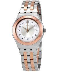 Swatch Midimix Silver Dial Ladies Watch - Metallic