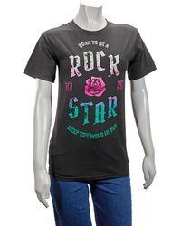 J.won ''born To Be A Rockstar'' T-shirt In Black, Brand