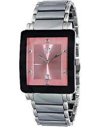 Oniss Prince Salmon Dial Stainless Steel Mens Watch -msm - Pink