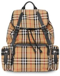 Burberry Small Vintage Check Backpack - Yellow