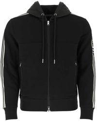 Moncler Long-sleeve Side Striped Hoodie, Brand - Black