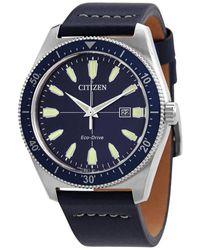 Citizen Vintage Brycen Eco-drive Blue Dial Mens Watch -01l