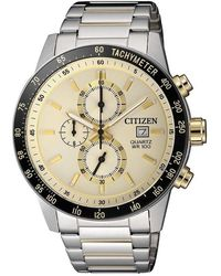 Citizen - Chronograph Quartz White Dial Watch -58a - Lyst