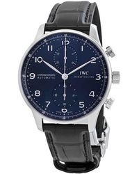 Iwc Portugieser Automatic Chronograph Blue Dial Mens Watch