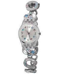 Swatch Originals Lk292g Stainless-steel Swiss Quartz Fashion Watch - Metallic