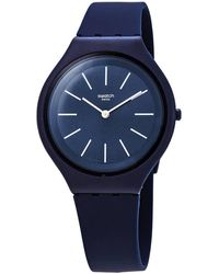 Swatch Skindeep Blue Dial Mens Watch