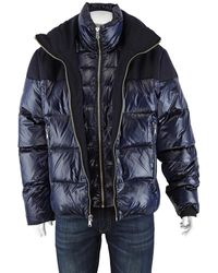 The Very Warm Down Filled Wool Jacket In Blue, Brand