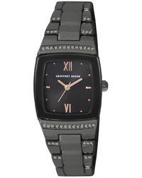 Geoffrey Beene Quartz Gunmetal Dial Watch - Metallic