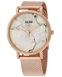 Cluse Roche Quartz Marble Dial Ladies Watch - Metallic