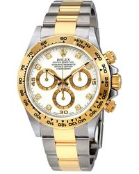 Rolex Oyster Perpetual Cosmograph Daytona White Diamond Dial Ladies Watch - Metallic