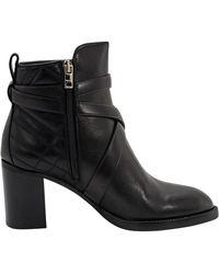 Burberry Black Leather Vaughan 70mm Block-heel Boots, Brand