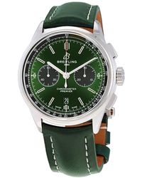 Breitling Premier Bentley Chronograph Automatic Chronometer Green Dial Mens Watch