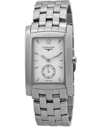 Longines Dolcevita White Dial Stainless Steel Watch - Metallic