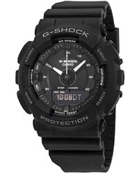 G-Shock G Shock S Series Perpetual Alarm Chronograph Quartz Analog-digital Black Dial Mens Watch -1a