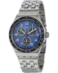 Swatch Boxengasse Chronograph Blue Dial Mens Watch