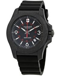 Victorinox I.n.o.x. Carbon Black Dial Mens Rubber Watch